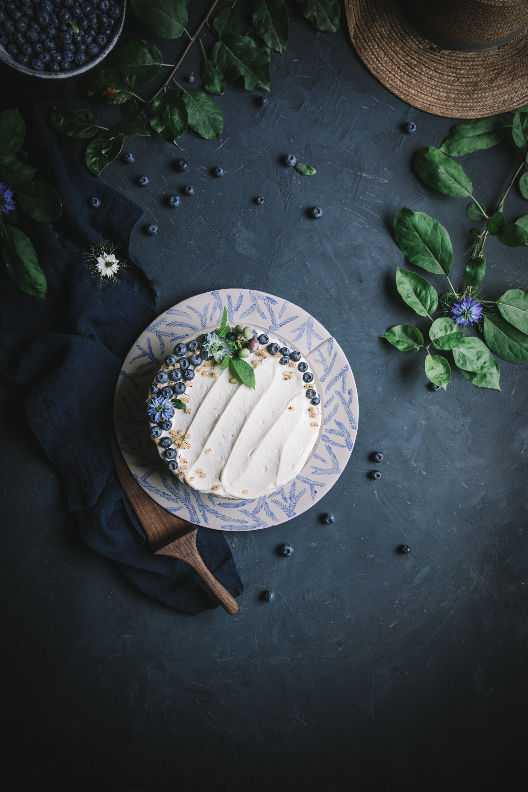 Blue Velvet Cake with Cream Cheese Frosting