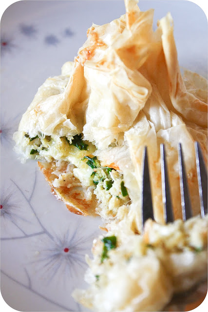 Crab, Chives and Brie Bunches