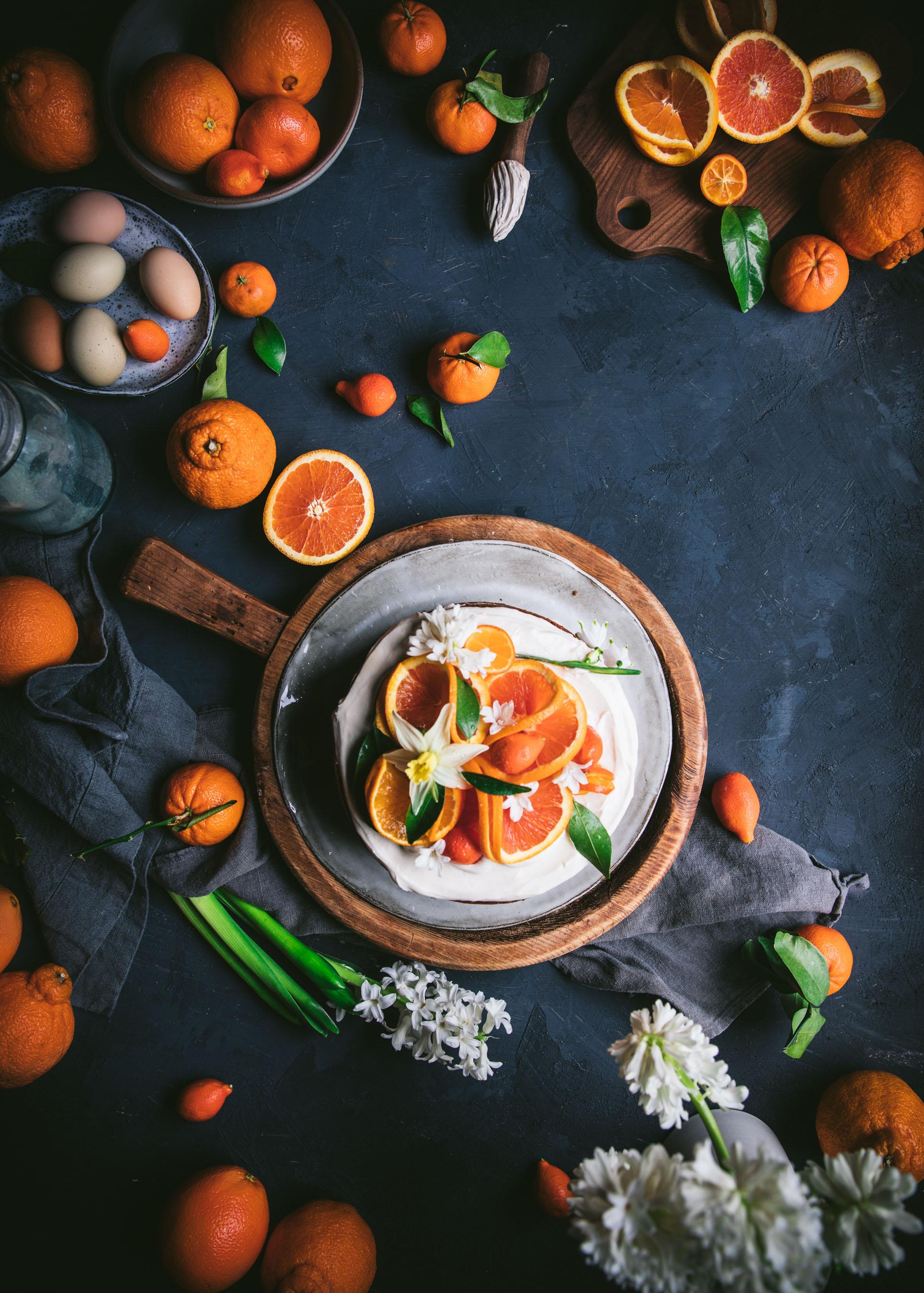 Food Styling Orange Cake