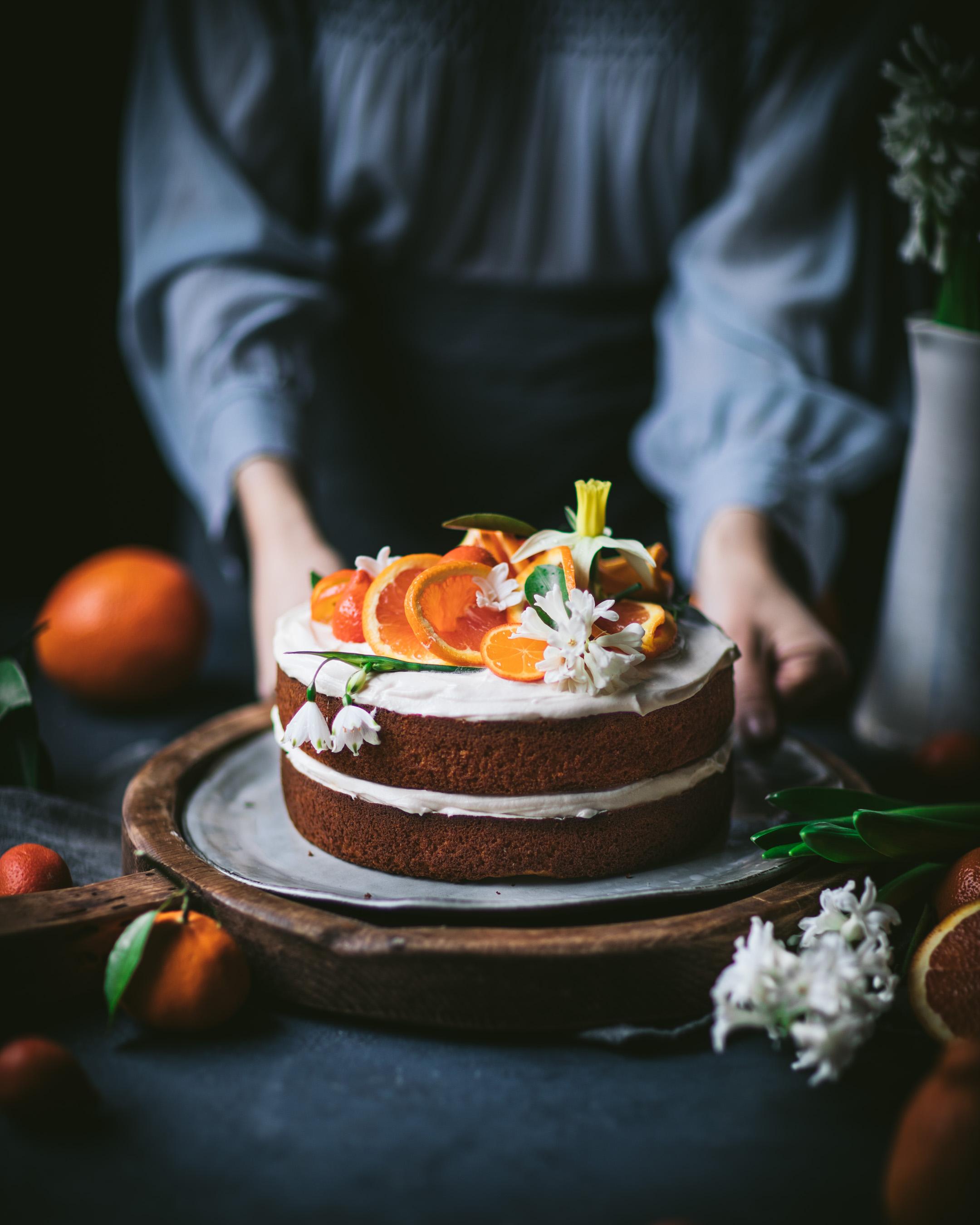 Orange Honey Cake with Cream Cheese Icing
