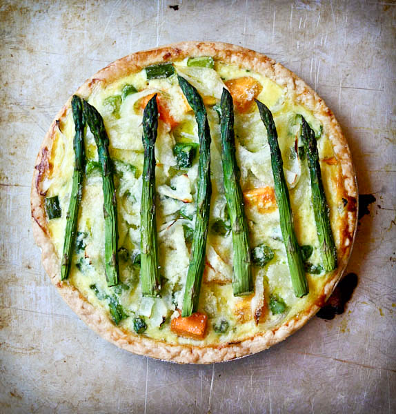 Asparagus and Butternut Squash Pie