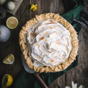 Lavender Lemon Meringue Pie