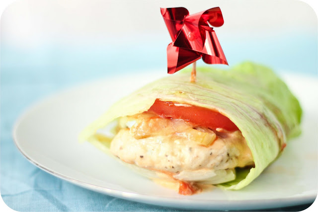 Lettuce-Wrapped Turkey Burgers with Goat Cheese
