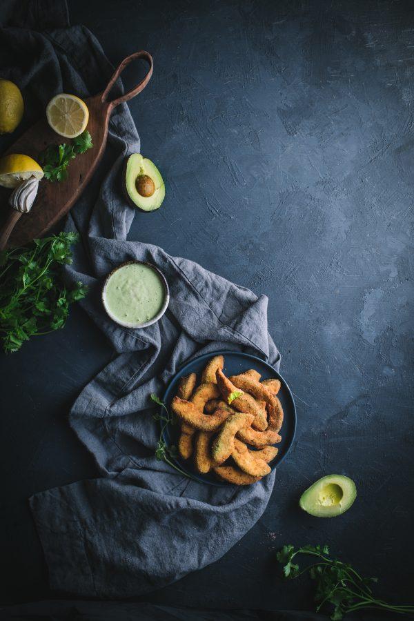 avocado, fries, dip, sauce, fried, deep, cilantro