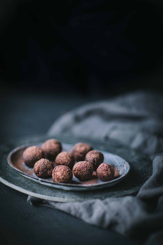 chocolate, cocoa, peanut, flour, truffles
