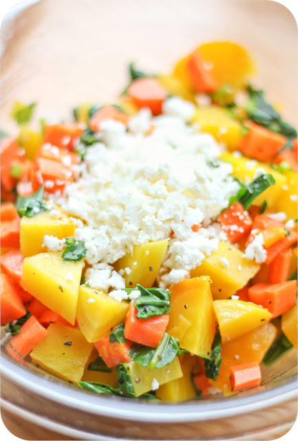 Golden Beet Salad with Feta