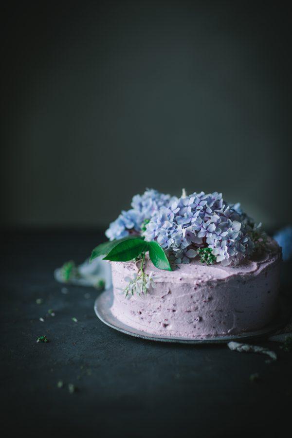 lemon, cake, blackberry, egg, white, buttecream
