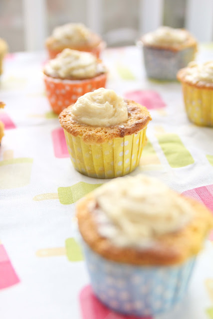 Cornbread Cupcakes with Honey Frosting