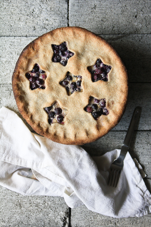 Buttermilk Blueberry Pie