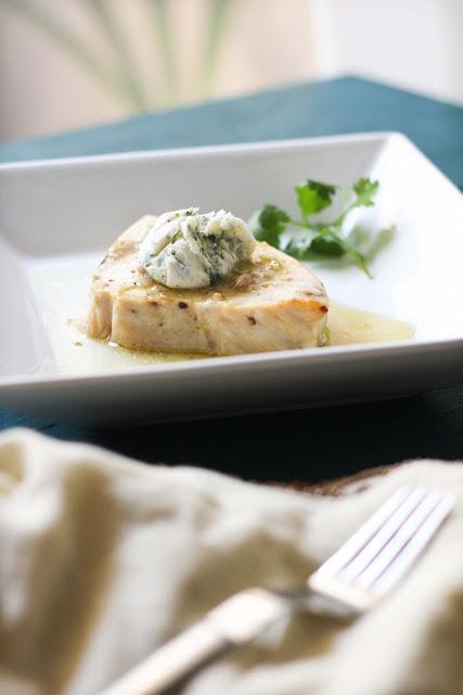 Citrus Swordfish with Cilantro Butter