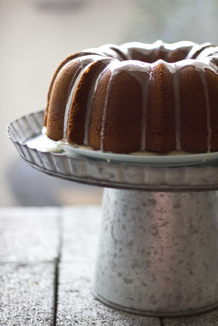 Date Bundt Cake with Honey Clove Glaze