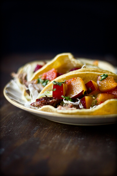 Roobios-Smoked Pork Tacos with Plum Grapefruit Salsa