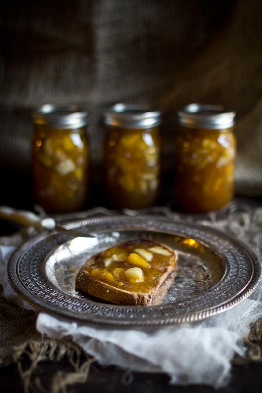 Peach & Pear Preserves with Rum & Cinnamon