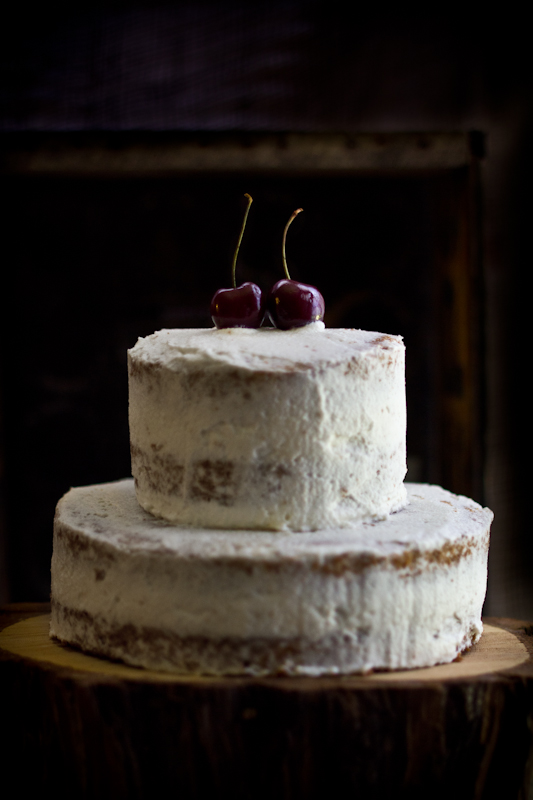 Cardamom Brown Sugar Cake with Fresh Cherries & Rose Cream ...