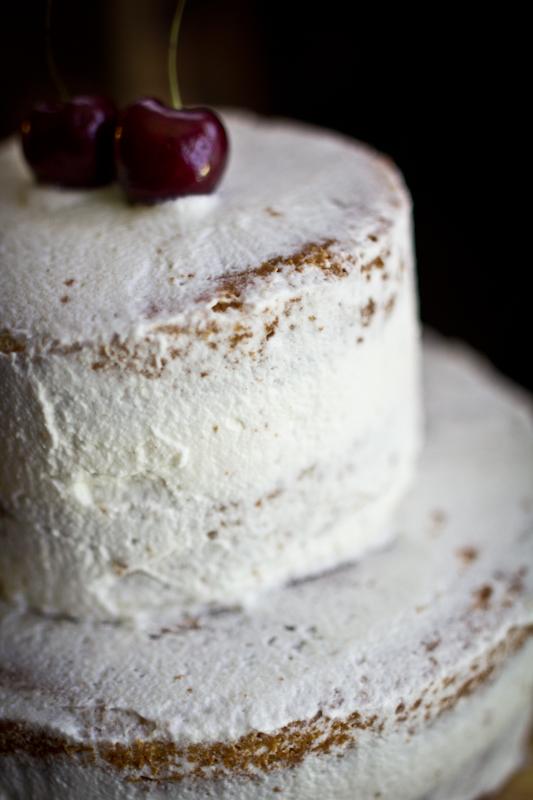 Cardamom Brown Sugar Cake with Fresh Cherries & Rose Cream ...