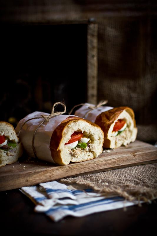 Pan Bagnat (Tuna Nicoise Sandwich)