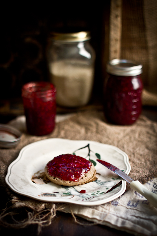 Red Plum & Raspberry Jam With Vanilla, Lemon Balm, & Spices