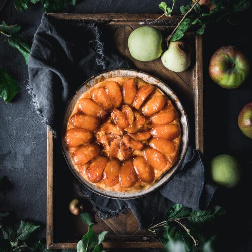 Apple Tarte Tatin with Vanilla Filo Crust