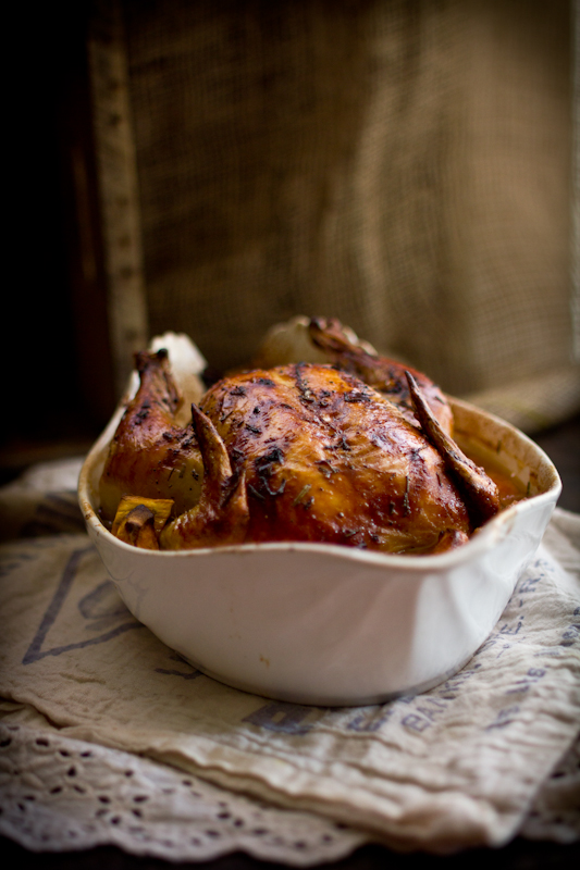 Roast Chicken with Yams, Oranges, & Blue Moon: Plus a Giveaway!