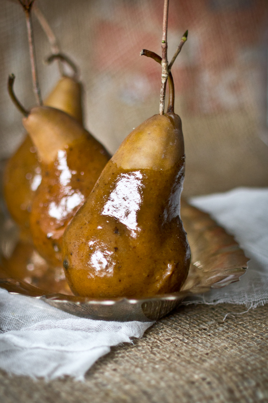 Dark Caramel Pears & An Announcement
