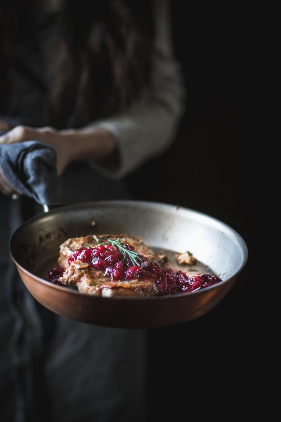 Pork Chops with Cranberry Balsamic Glaze