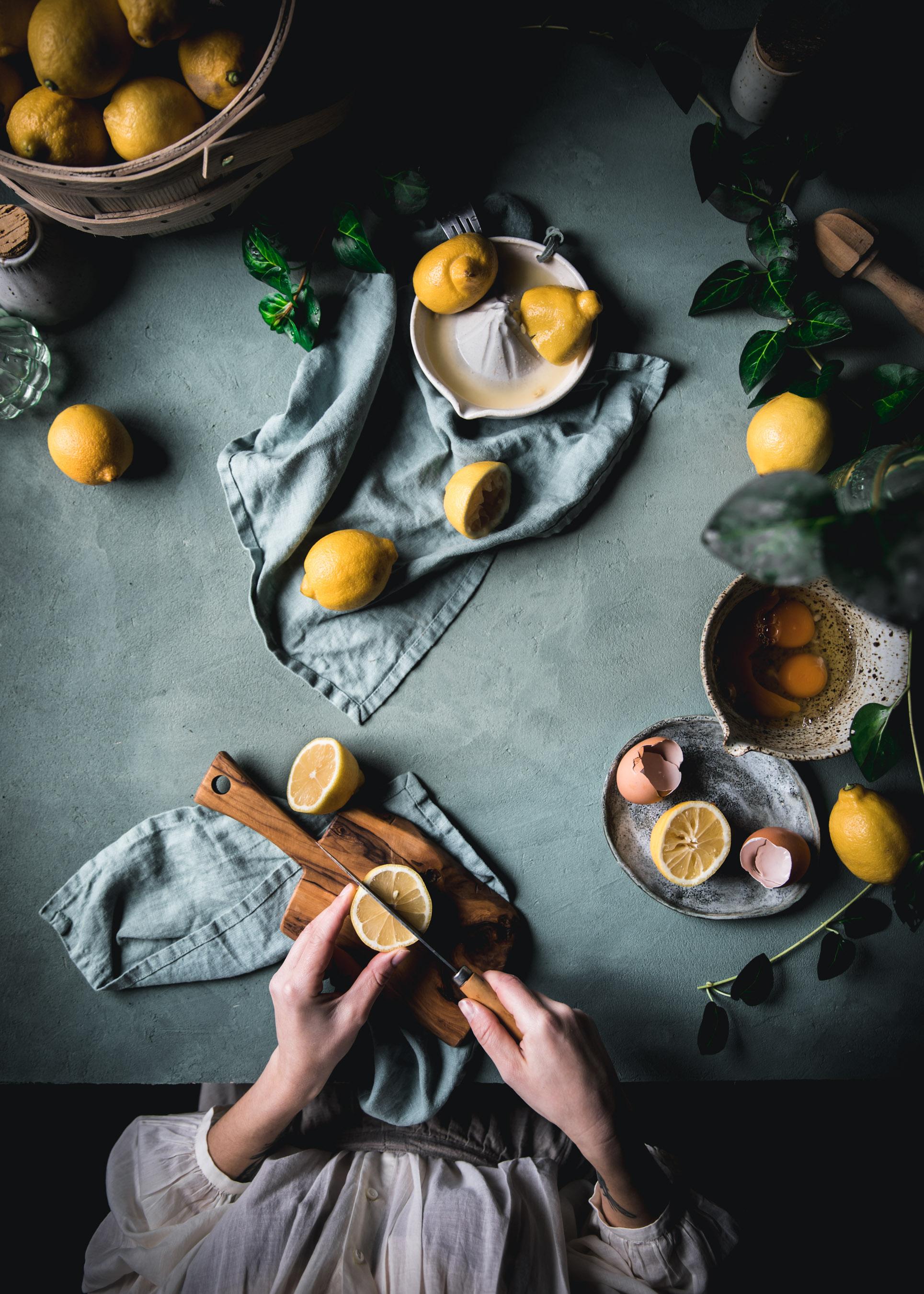 Lemon Slicing Food Photography