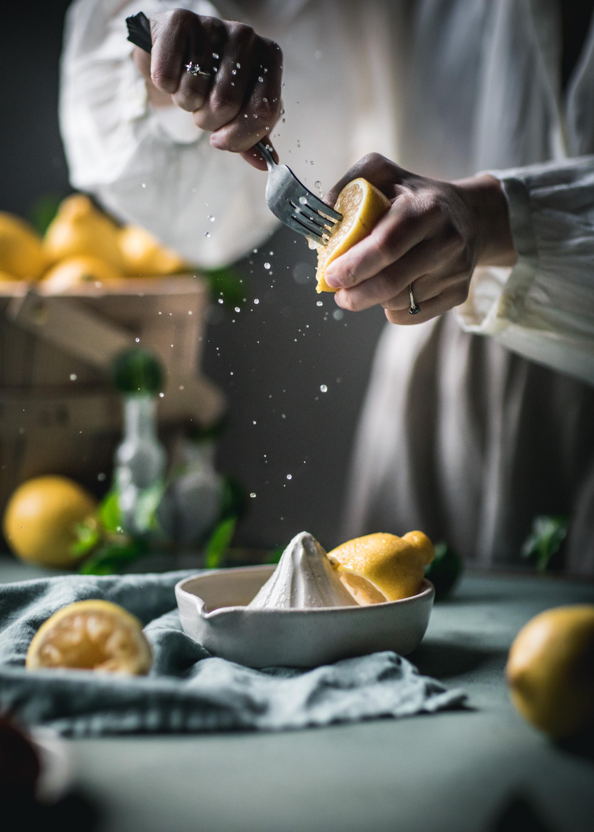 Lemon Juicing Food Photography