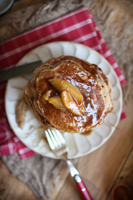 Buttermilk Apple Pancakes with an Apple Toffee Balsamic Maple Syrup ...