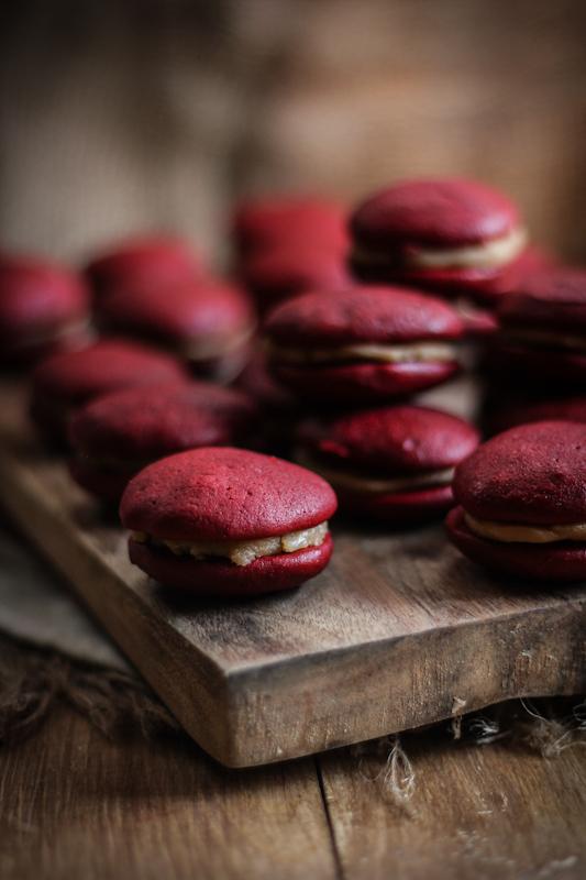 Red Velvet & Salted Caramel Whoopie Pies