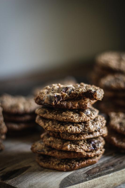 Oatmeal Hazelnut Chocolate Chip Cookies