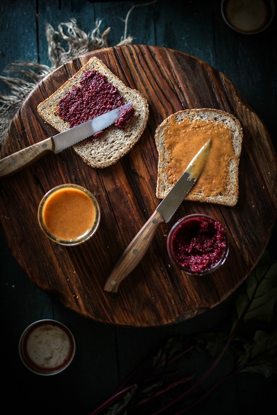Roasted Beet Balsamic Mustard & Honey Chipotle Dippin' Mustard