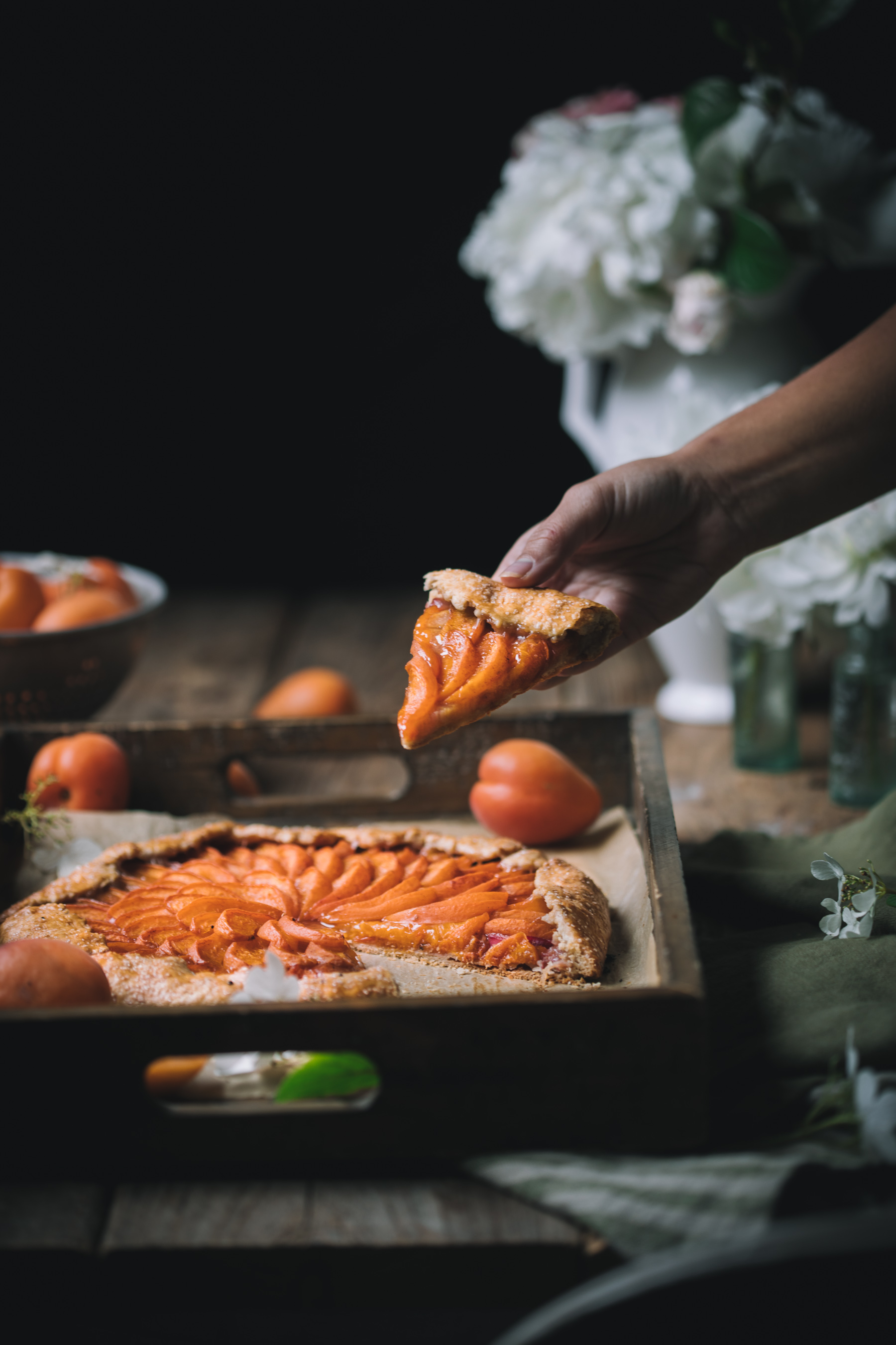 Apricot and Rhubarb Galette