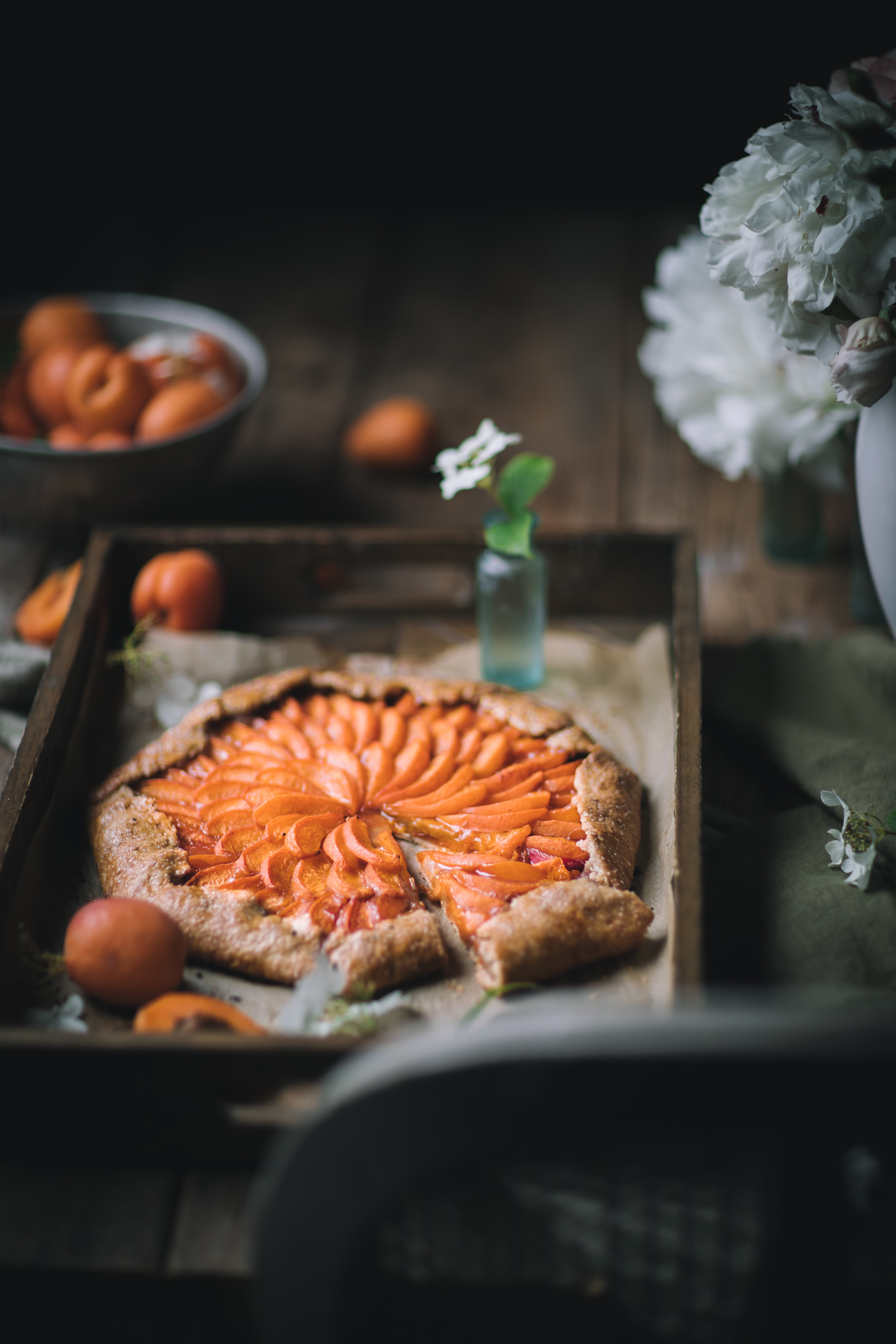 Rhubarb and Apricot Galette