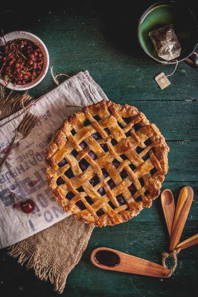 Balsamic Cherry Pie with a Black Pepper Crust, Plus a Melina's Giveaway!