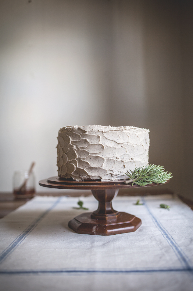 The Bees' Knees: Rosemary Corn Cake with a Honey & Brown Butter Buttercream
