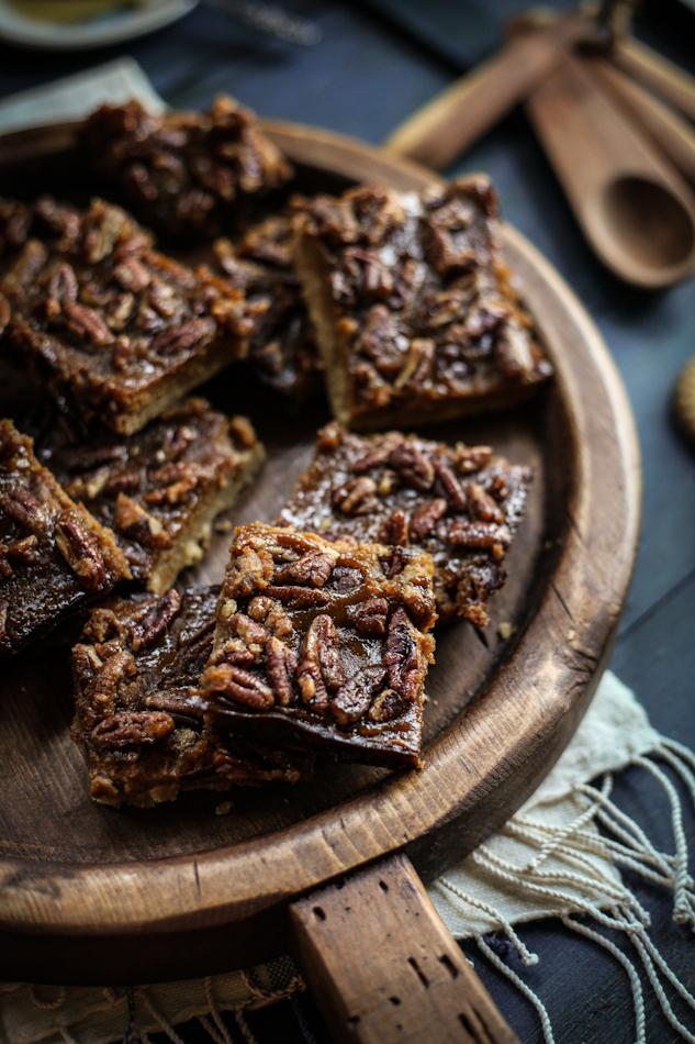 Maple, Pecan, & Butternut Shortbread Bars - Adventures in Cooking