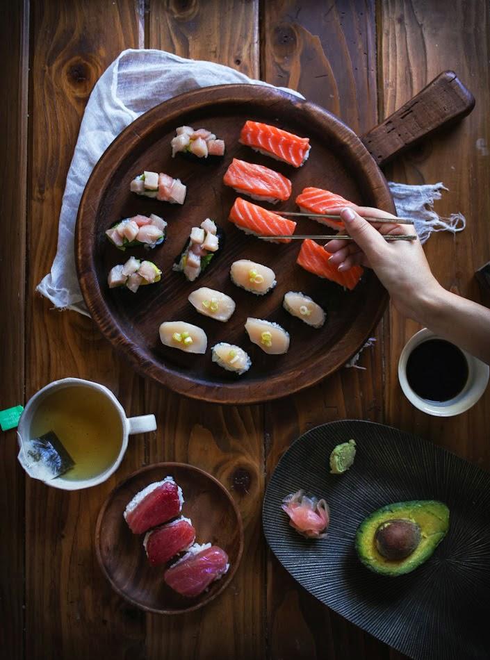 Homemade Sushi: Nigiri and Gunkanmaki Style