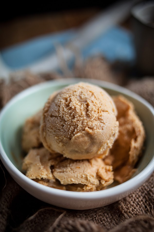 Pumpkin Ice Cream with a Gingersnap Honey Swirl