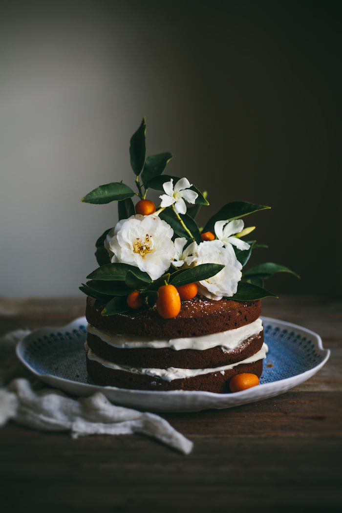 Brown Butter Pumpkin Cake With Whipped Cream Cheese + Honey