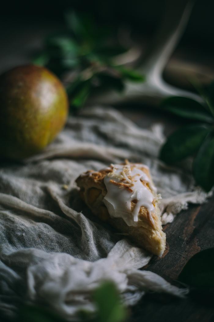 Mango Coconut Scones {Vegan}
