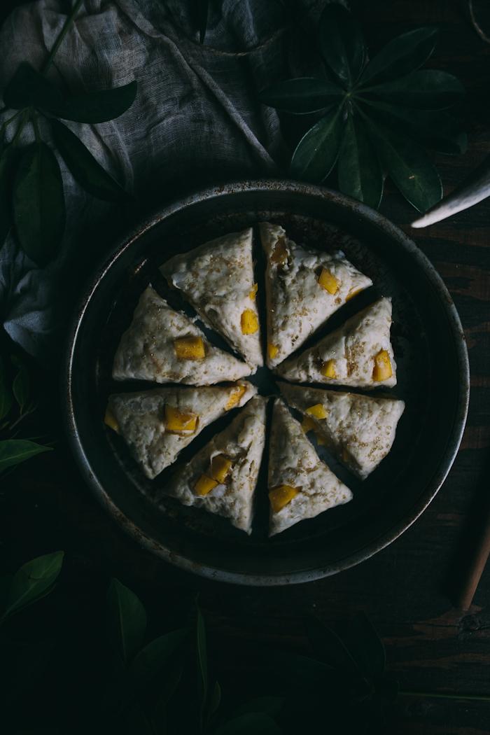 Mango Coconut Scones {Vegan} | Adventures in Cooking