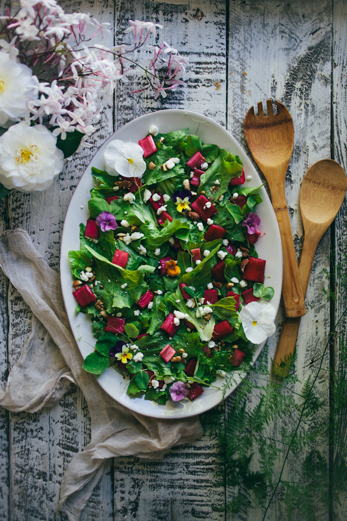 Rhubarb Endive Salad
