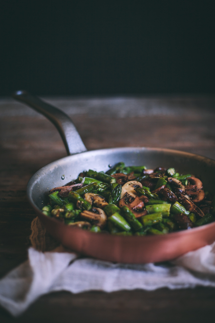 Creamy Bow Tie Pasta with Mushrooms & Asparagus | Adventures in Cooking