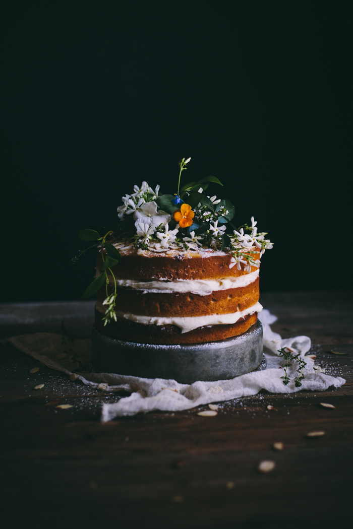 Orange Almond Cake with an Orange Blossom Buttercream + Summer 2014 Online Food Styling & Photography Workshop
