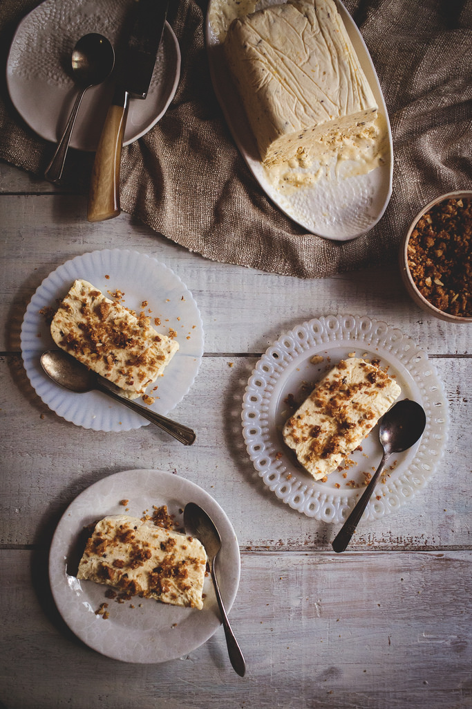 Orange-Fennel Semifreddo with Spicy Chocolate Bits & Almond Streusel | Guest Post by Reclaiming Provincial