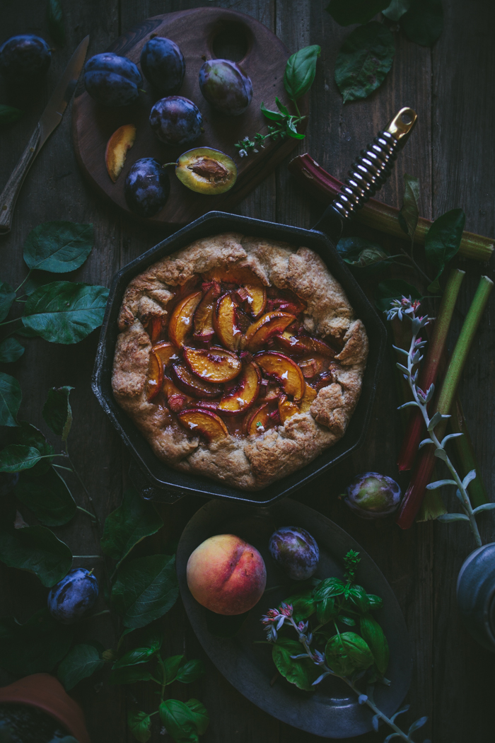 Stone Fruit Skillet Pie + A Finex Cast Iron Giveaway by Eva Kosmas Flores | Adventures in Cooking