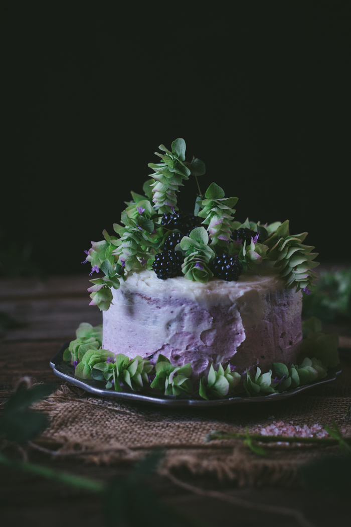 Oregano Honey Cake With Blackberry Buttercream + A Cookbook