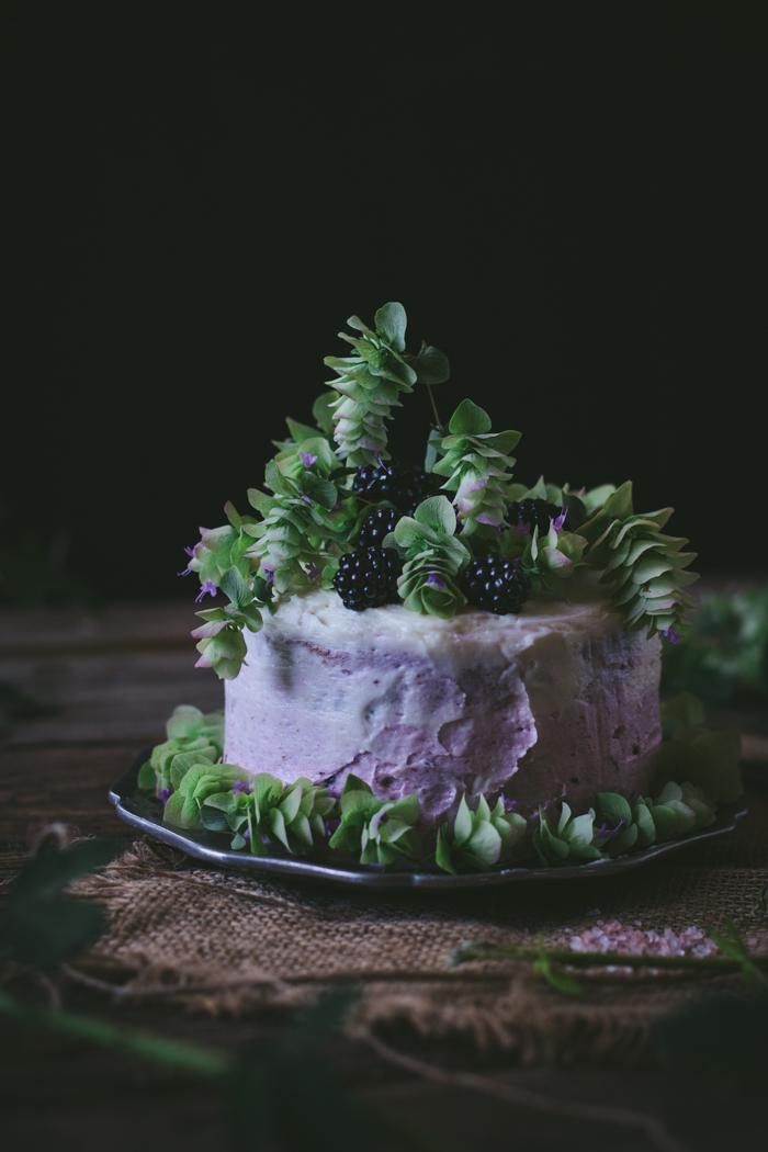 Oregano Honey Cake With Blackberry Buttercream + A Cookbook