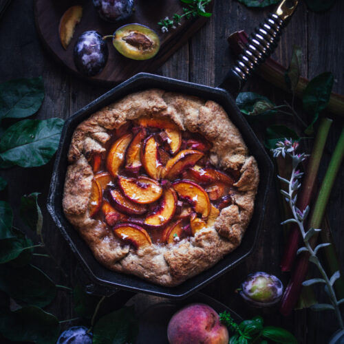 Stone Fruit Skillet Pie