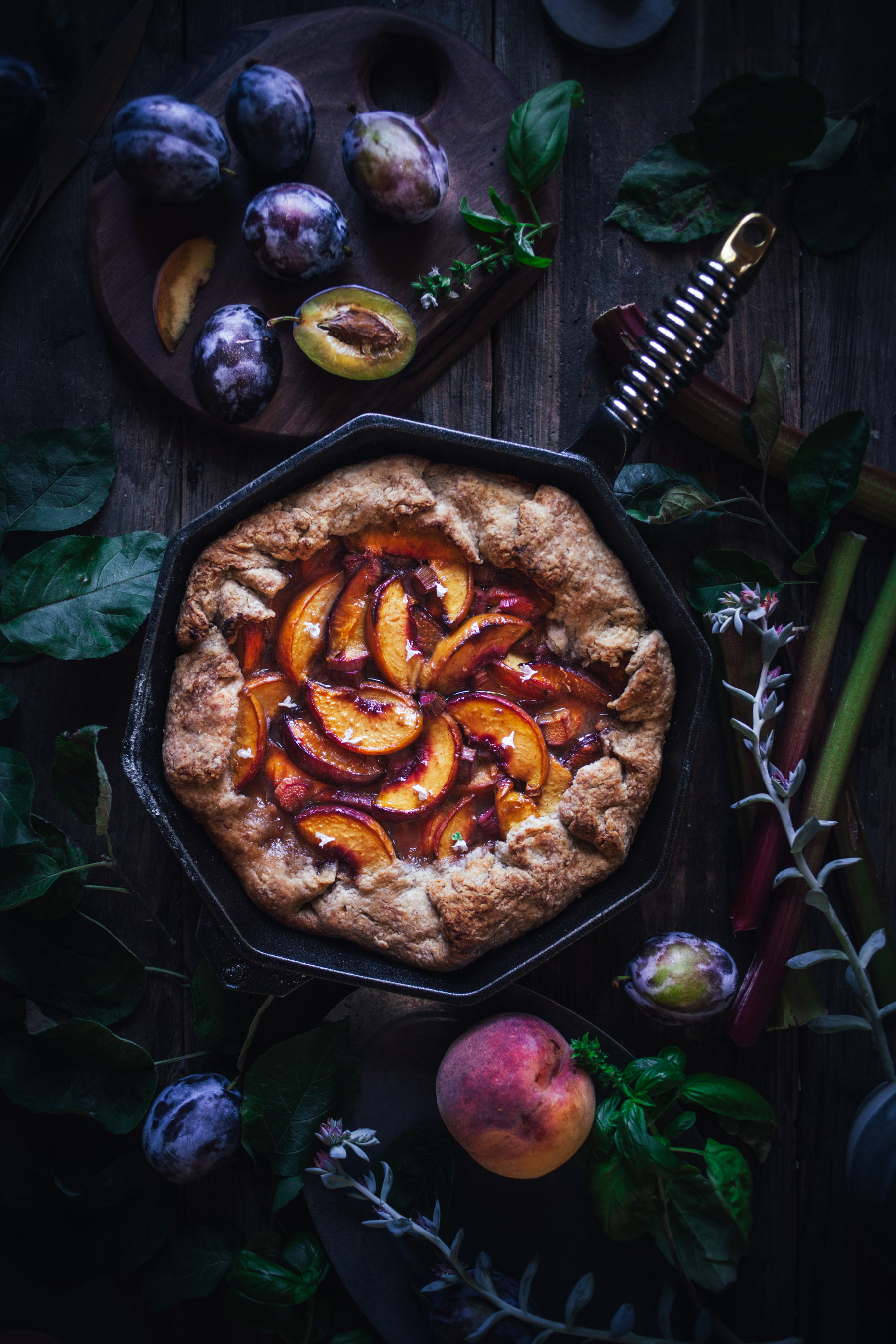 Stone Fruit Skillet Pie